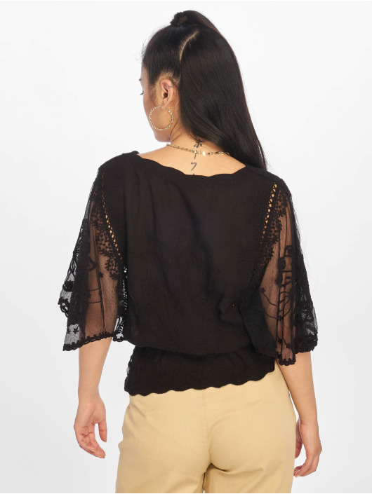 New Look Blouse/Tunic F Emily Emb Crochet black