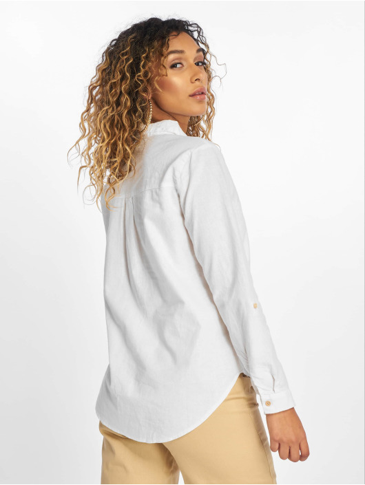New Look Blouse/Tunic F T Lucy Linen 2 Pocket white