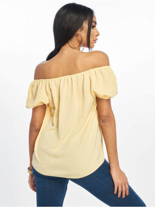 New Look Blouse/Tunic T Tilly Tie Front Square Neck yellow
