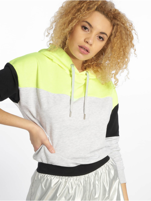 New Look Hoodie Colourblock Straight gray