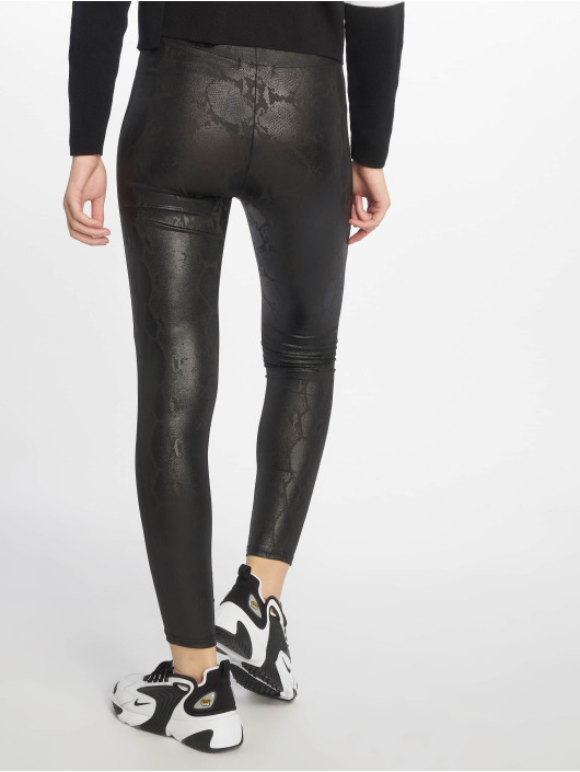 New Look Leggings/Treggings Wetlook Snakeskin black