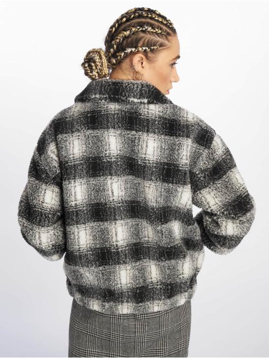 New Look Lightweight Jacket Reily Check Teddy black