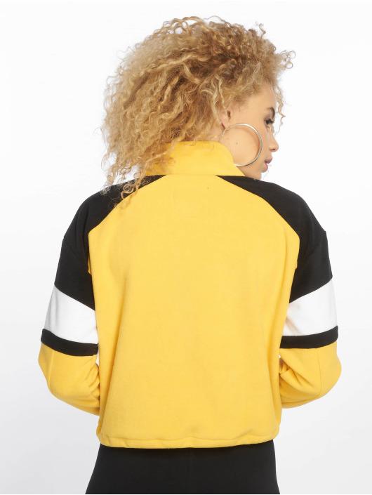 New Look Lightweight Jacket Colourblock Polar Fleece yellow