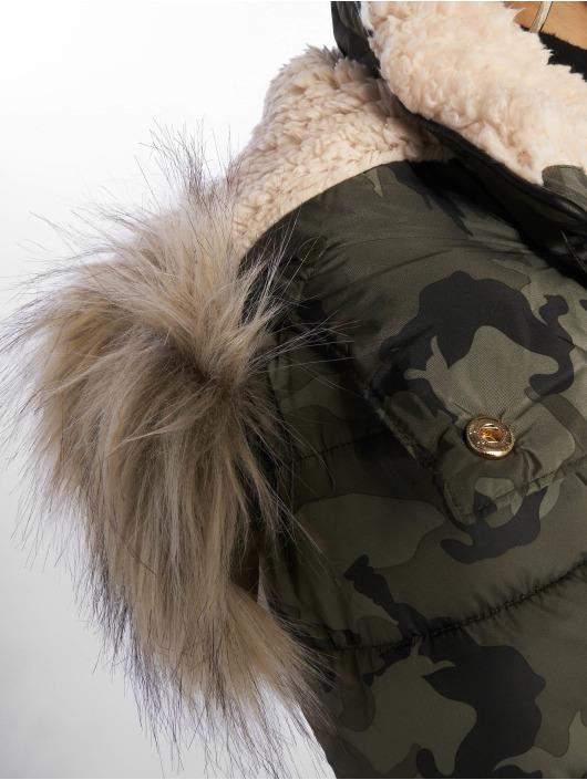 New Look Puffer Jacket Colorado Camo green