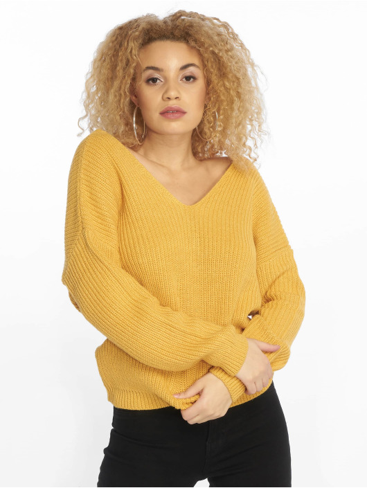 New Look Pullover Op Twist Back yellow