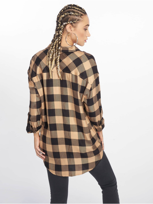 New Look Shirt Erin Camel Check PKT brown