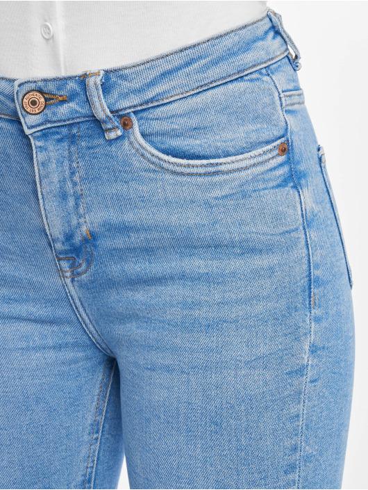 New Look Skinny Jeans Rip Fray Hem Disco Jaffa blue