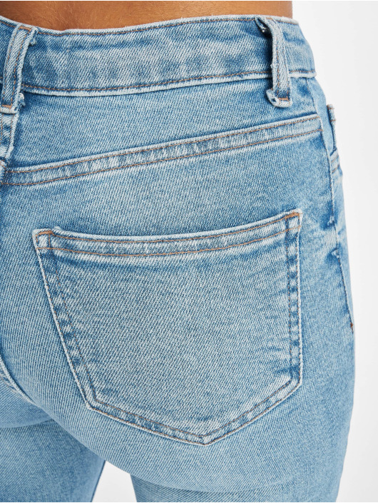 New Look Skinny Jeans Mid Rip Disco Charlotte blue