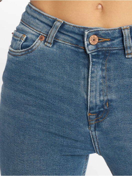 New Look Skinny Jeans Ripped Cut Off Dicso Boul blue