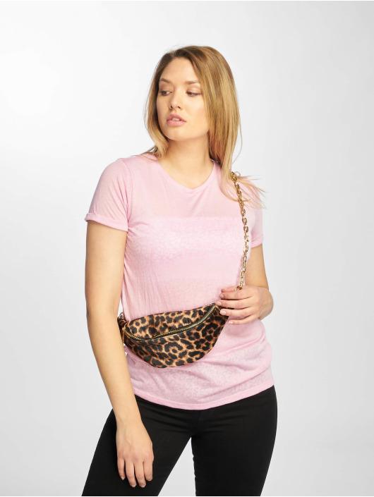 New Look T-Shirt Leopard Burnout pink