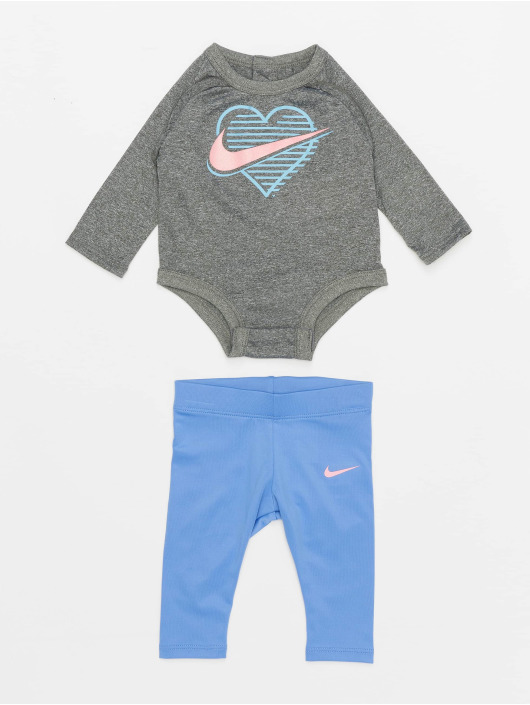 Nike Body Ls Nike Block Bodysuit Legging Set blue