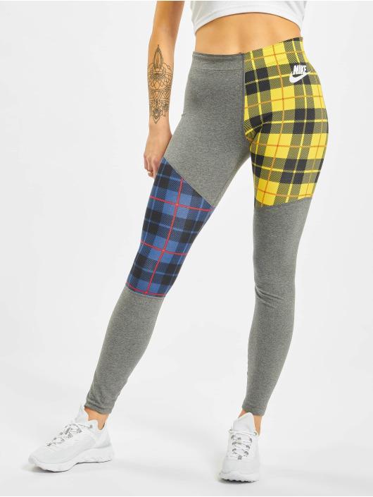 Nike Leggings/Treggings Plaid gray