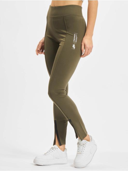 Nike Leggings/Treggings Legasee Zip khaki
