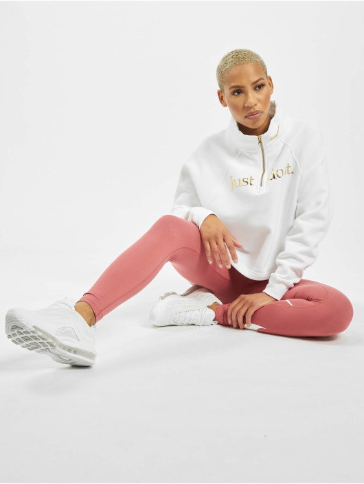 Nike Pullover Funnel 1/2 Zip BB Shine white