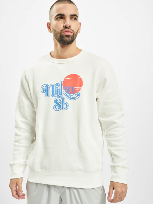 Nike SB Pullover Icon Crew Sunrise white