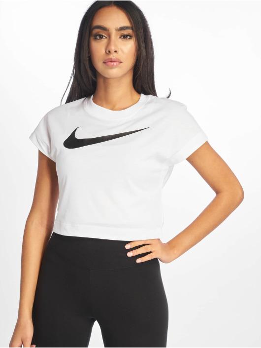 Nike Top Swoosh Crop Top SS white