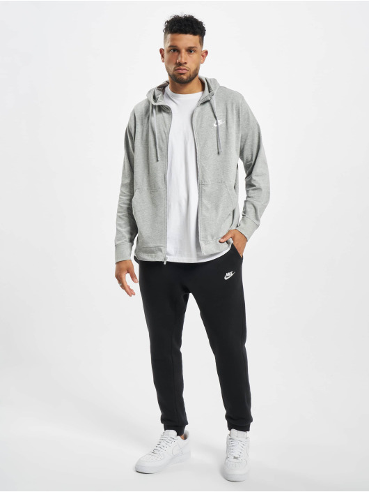 Nike Zip Hoodie Club Full Zip JSY gray