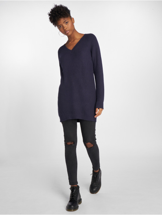 Noisy May Dress nmSati Cable Knit blue