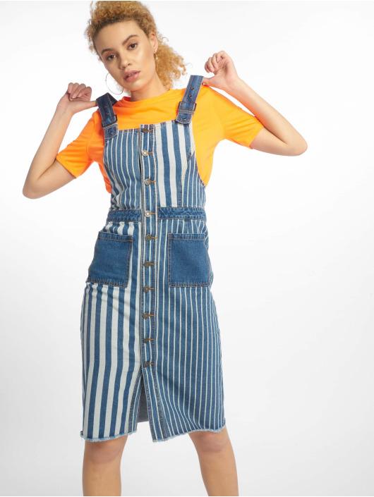 Noisy May Dress nmJenny Dungaree Stribe blue