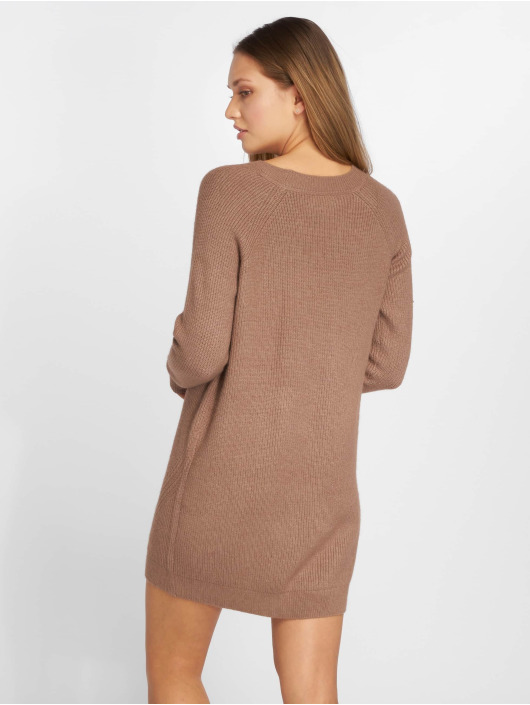 Noisy May Dress nmSati Cable Knit brown