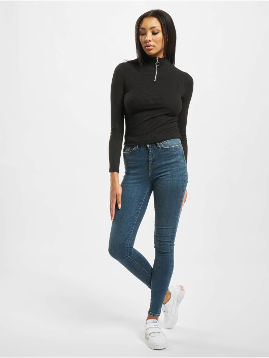 Noisy May Skinny Jeans nmVicky Normal Waist blue