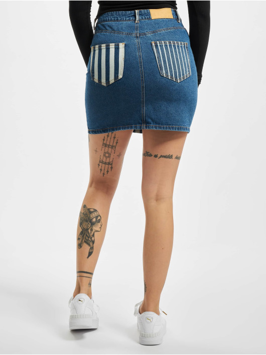 Noisy May Skirt nmNicole Normal Waist Denim Stripe blue