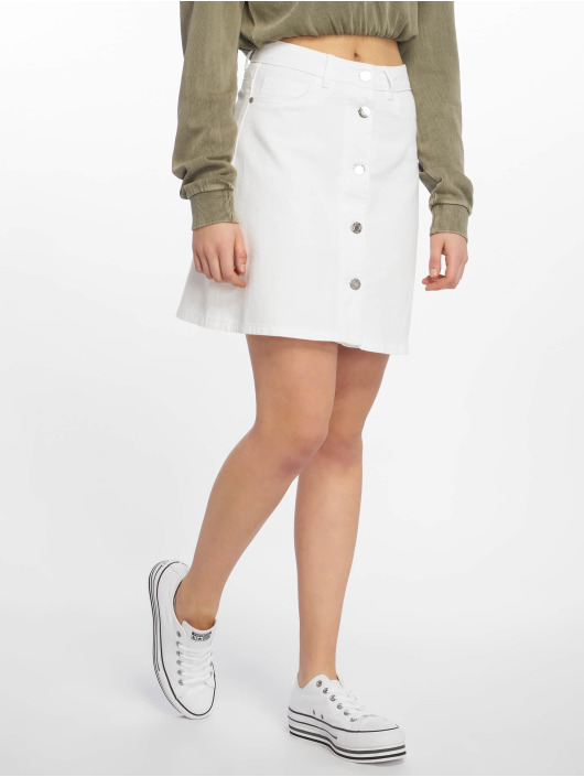Noisy May Skirt nmSunny Noos Short Denim white
