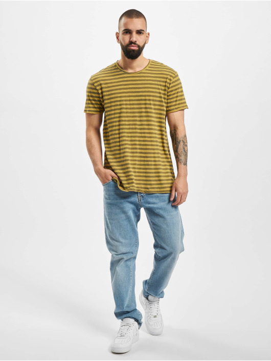 Nudie Jeans T-Shirt Anders Double Stripe green