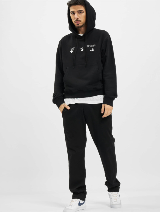 Off-White Hoodie Big OW Logo Slim black