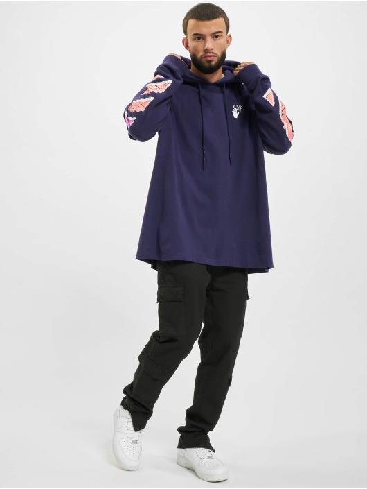 Off-White Hoodie Marker Double purple