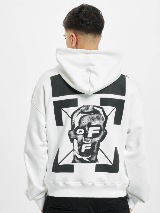 Off-White Hoodie Masked Face white