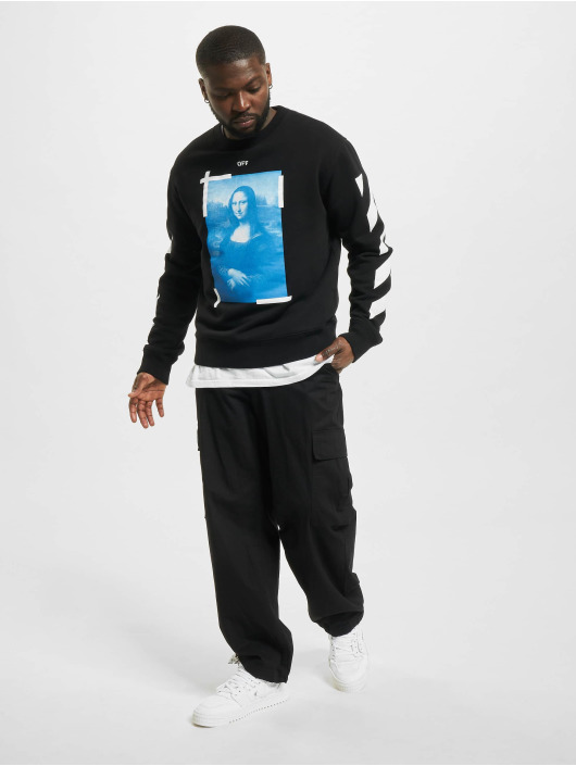 Off-White Pullover Monalisa Slim black