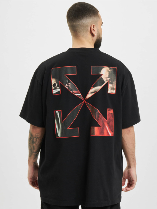 Off-White T-Shirt Caravaggio Over black
