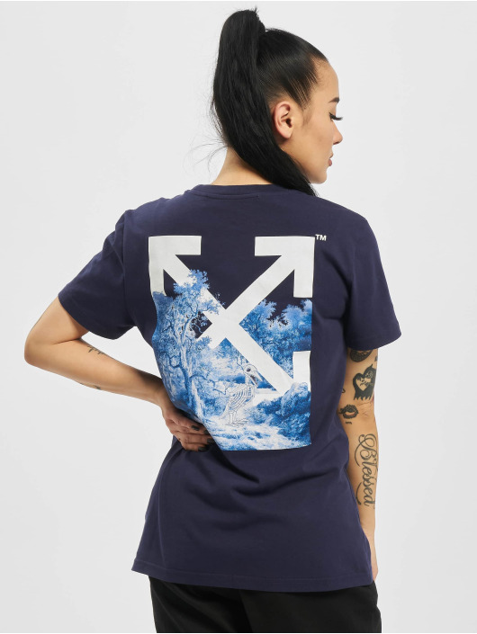 Off-White T-Shirt Skeleton Casual blue