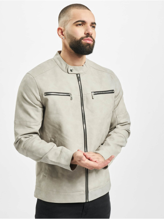 Only & Sons Leather Jacket onsFavour Jupiter Pu gray
