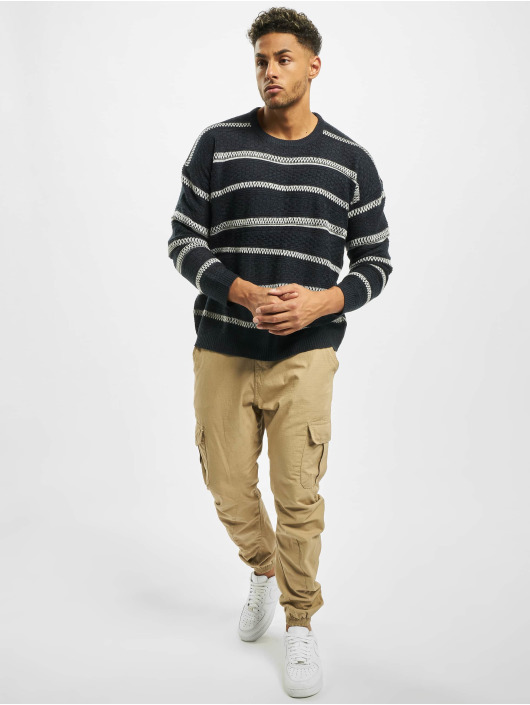 Only & Sons Pullover onsPerry 5 Struc Stripe Knit blue