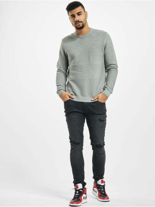 Only & Sons Pullover onsNathan 12 Structure gray