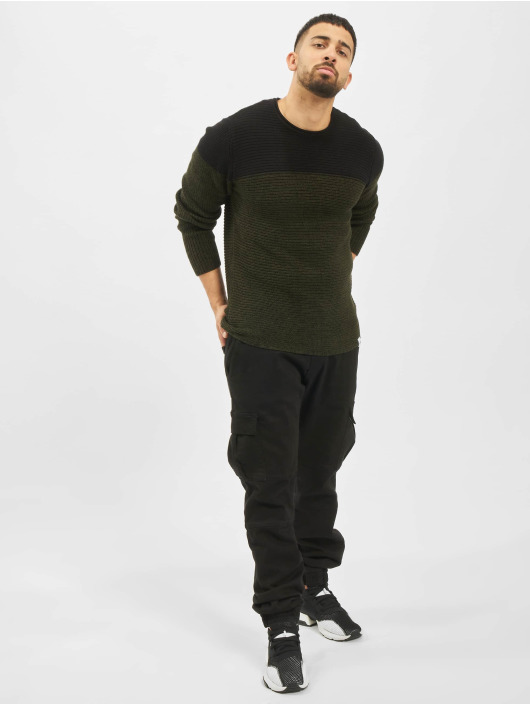 Only & Sons Pullover onsSato 5 Colorblock Knit Noos green