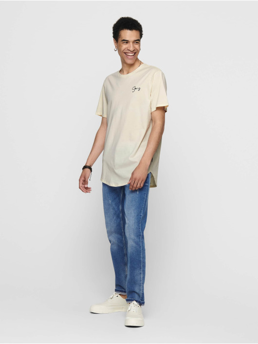 Only & Sons T-Shirt onsPin beige