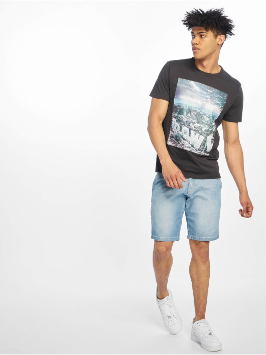 Only & Sons T-Shirt onsLamani Camp Fitted gray