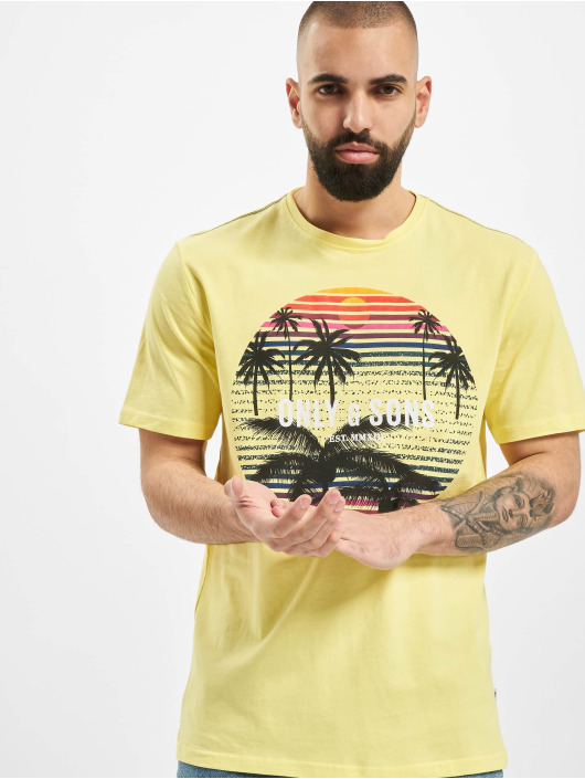 Only & Sons T-Shirt onsKuba yellow