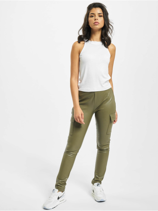 Only Cargo pants onlMiri Faux Leather olive