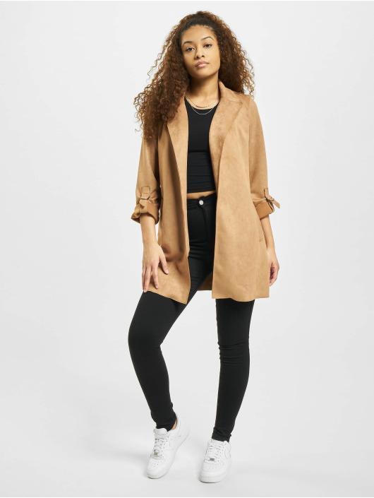 Only Coats onlJoline Faux Suede brown