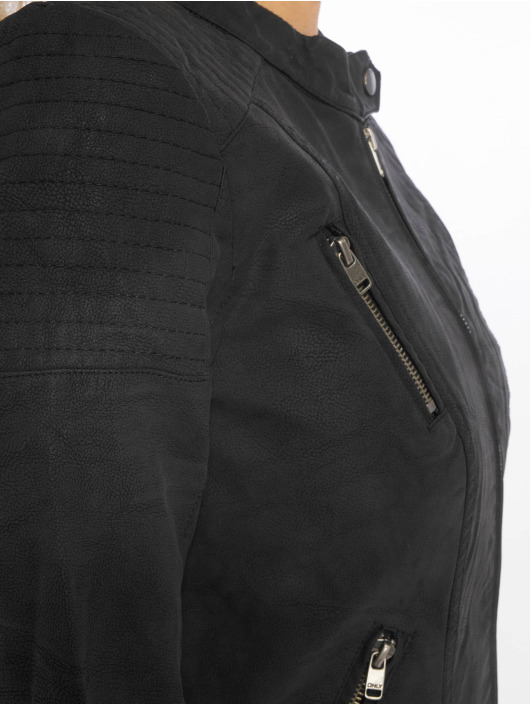 Only Leather Jacket onlSteady black