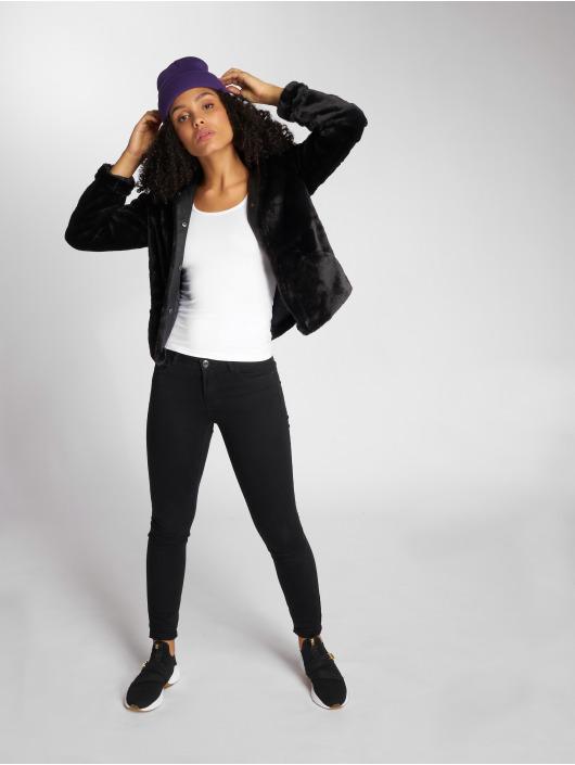 Only Lightweight Jacket onlVida Faux Fur black