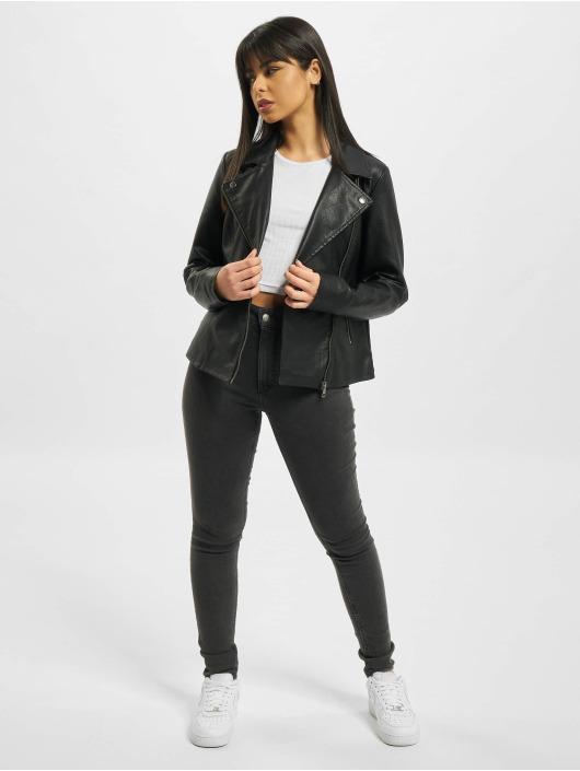 Only Lightweight Jacket onlMelisa Faux Leather black