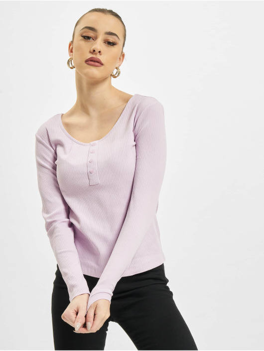 Only Longsleeve onlSimple Life Button purple