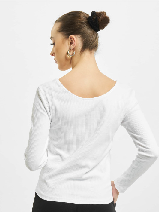 Only Longsleeve onlSimple Life Button white