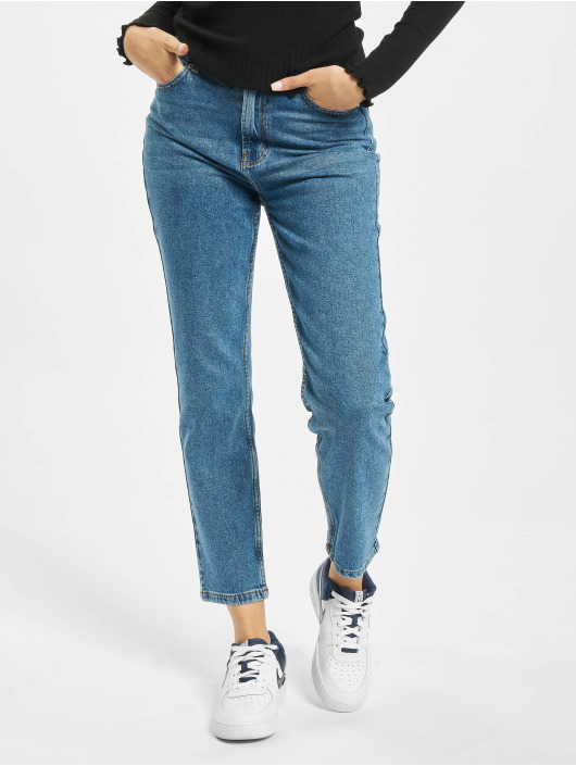 Only Mom Jeans onlEmily Life High Waist Str A Mo blue