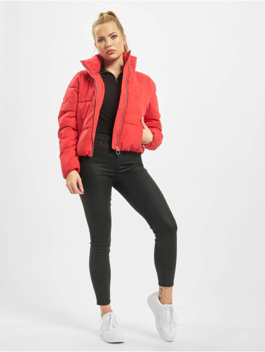 Only Puffer Jacket onlDina Short Quilted red